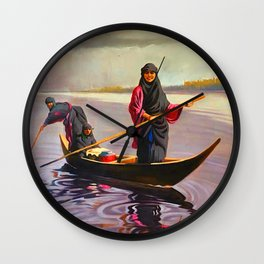 The iraqi Marshlands Wall Clock