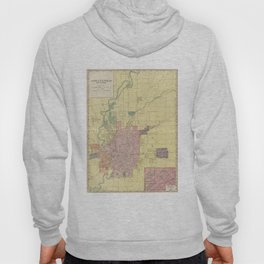 Vintage Map of Indianapolis Indiana (1903) Hoody