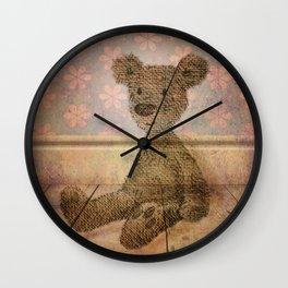 Barely Bear - A Vintage Teddy Wall Clock
