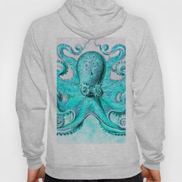 Octopus in Turquoise Hoody