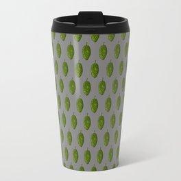 Hops Gray Pattern Travel Mug