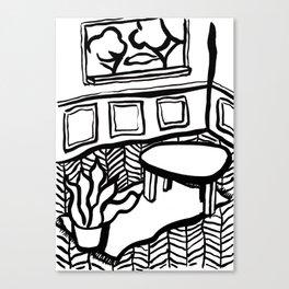 Matisse à la maison Canvas Print