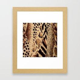 wildlife brown black tan cheetah leopard safari animal print Framed Art Print
