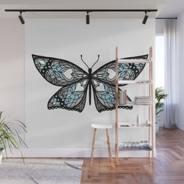 Fly With Pride: Demiboy Flag Butterfly Wall Mural