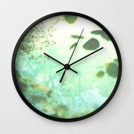 Green softness No1 Wall Clock