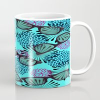 sunglasses Mugs featuring Sunglasses by Mad And Zo Designs