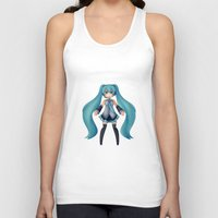 vocaloid Tank Tops featuring Digital Song by Nozubozu