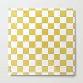 CHESS DESIGN (GOLD-WHITE) Metal Print