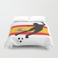 spain Duvet Covers featuring Spain - WWC by Alrkeaton