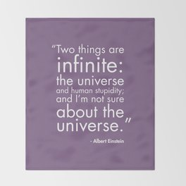 The Universe and Human Stupidity Throw Blanket