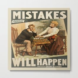 Vintage poster - Mistakes Will Happen Metal Print