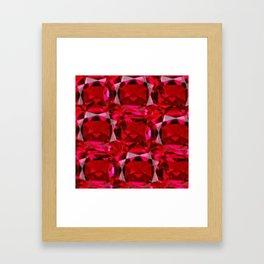 RUBY RED JULY GEM BIRTHSTONE  ART Framed Art Print