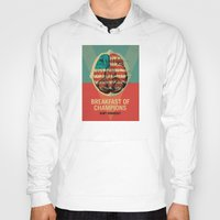 vonnegut Hoodies featuring Breakfast of Champions by Troy DeRose