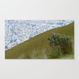 Quito from above Canvas Print