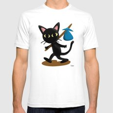 Whim takes a trip! SMALL Mens Fitted Tee White