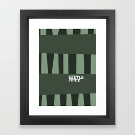 Tim Burton - Beetle juice Framed Art Print