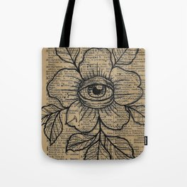 Flower with Eye: Beauty is in the Eye... Tote Bag