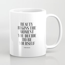 Girls Quote Beauty Begins Fashion Wall Art FASHIONISTA Poster Home Decor Quote Coffee Mug
