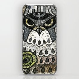 Falcon on clover iPhone Skin