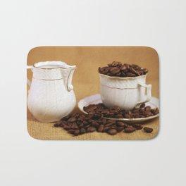 Creamer coffee cup coffee beans kitchen image Bath Mat
