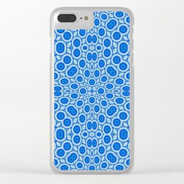 Country Blue and White Bubble Pattern Clear iPhone Case