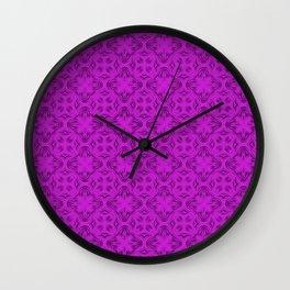Dazzling Violet Shadows Wall Clock
