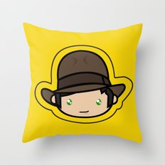 Indiana Jones Kawaii Throw Pillow