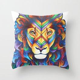 Mufasa in Technicolour Throw Pillow