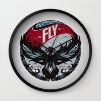 fly Wall Clocks featuring Fly by Andreas Preis