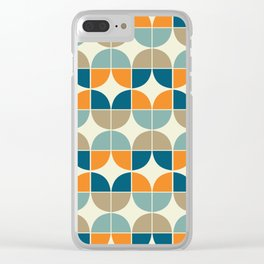 Mid Century Geometric 4 Clear iPhone Case