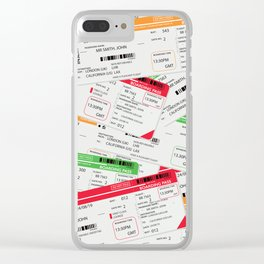 Airliner travel tickets Clear iPhone Case