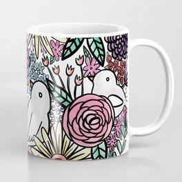 Flowers, Birds & A Heart Coffee Mug