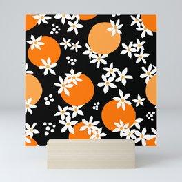 Midnight Citrus Pattern No 01 Mini Art Print