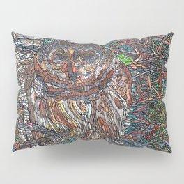 Owl in a Birch Grove Pillow Sham