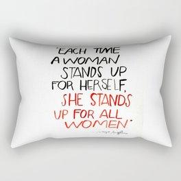 QOTD Maya Angelou Rectangular Pillow