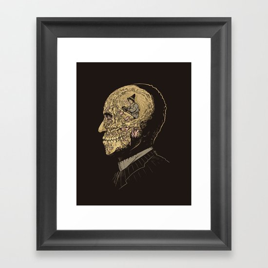 Why zombies want brains Framed Art Print