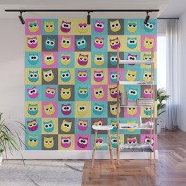 Pop Owls Wall Mural