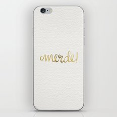 Pardon My French – Gold Ink iPhone & iPod Skin