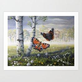 Dancing Butterflies Art Print