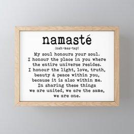Namaste Framed Mini Art Print