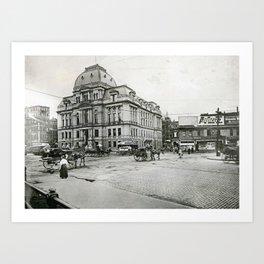 City Hall and Hotel Dorrance, Providence, Rhode Island Art Print
