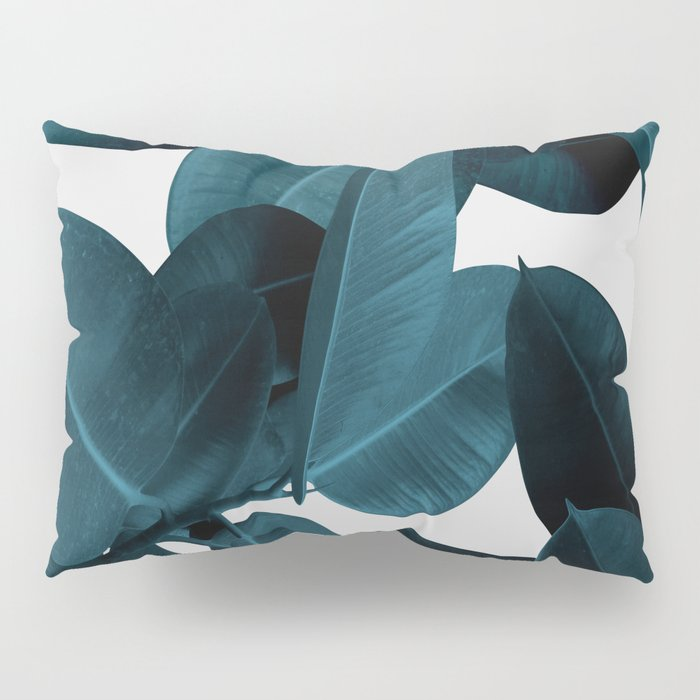 Indigo Plant Leaves Pillow Sham