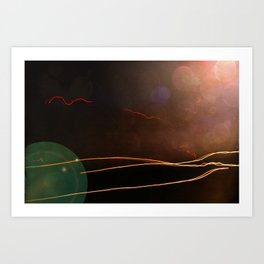 LIFE PASSING BY Art Print
