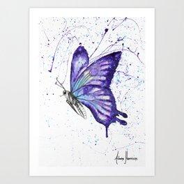 Lavender Butterfly Art Print