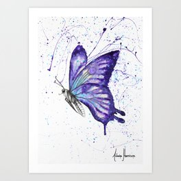 Lavender Butterfly Art Print