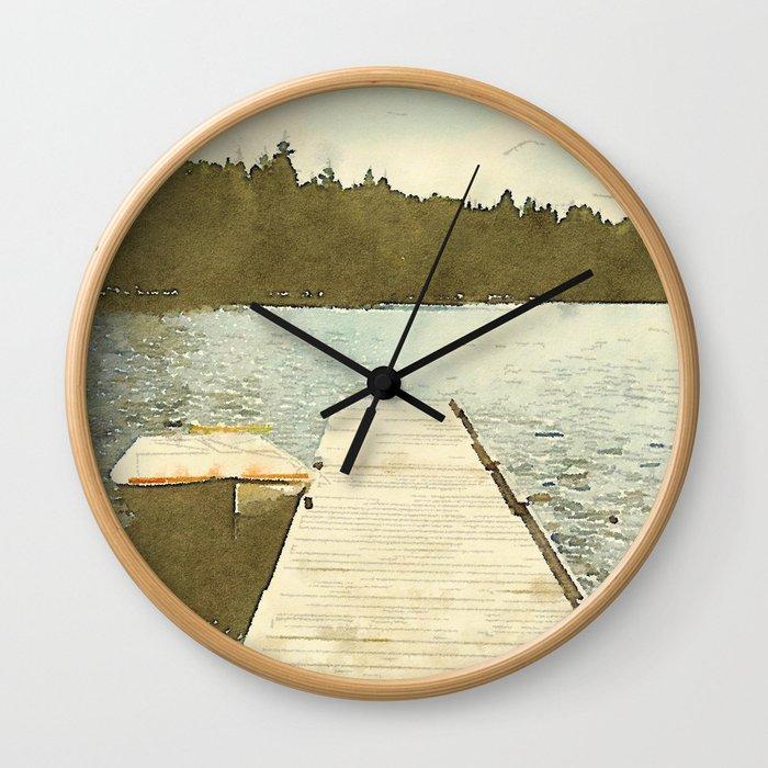 Lily Bay Dock Wall Clock