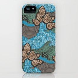 Pine cones pattern iPhone Case