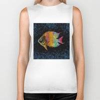 fish Biker Tanks featuring  Fish by Vitta