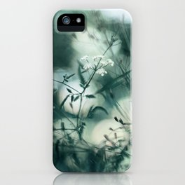 Summer Floral Teal Dreams iPhone Case