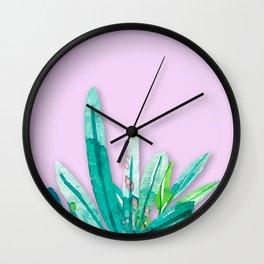 Tropics in Pink Wall Clock